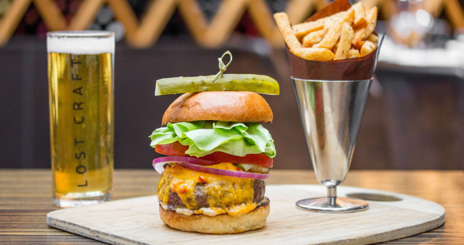 Game night burger and a beer special at Jump