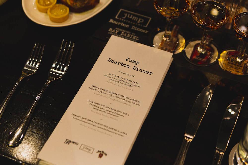 Bourbon dinner menu