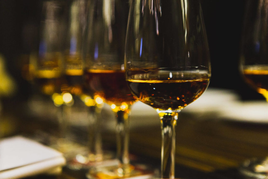 Bourbon in glasses