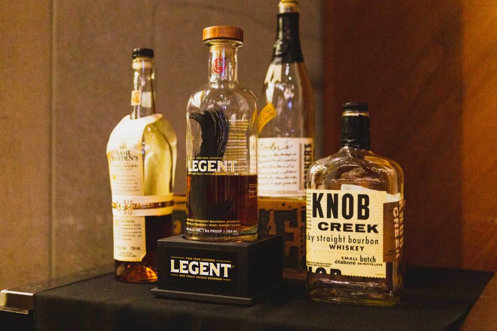 Assorted Bourbon bottles