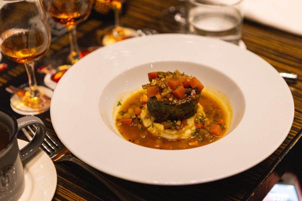 Lamb shoulder dish
