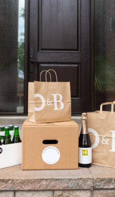 O&B Grocery and Takeout on Door Stoop