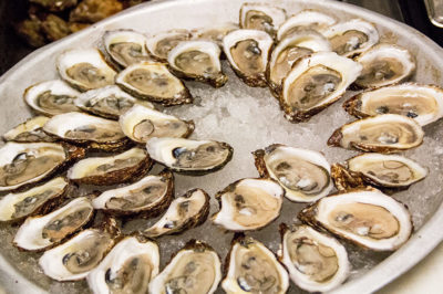 Platter of buck-a-shuck Oysters at Biff's Bistro