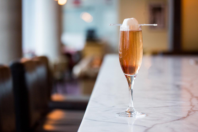 Champagne Cocktail at Luma