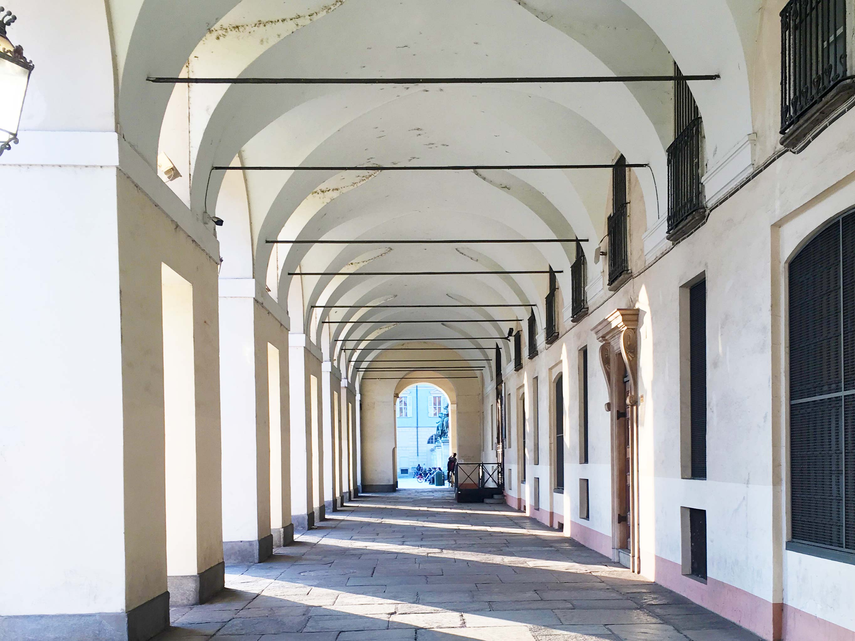 Archways in Turin Italy