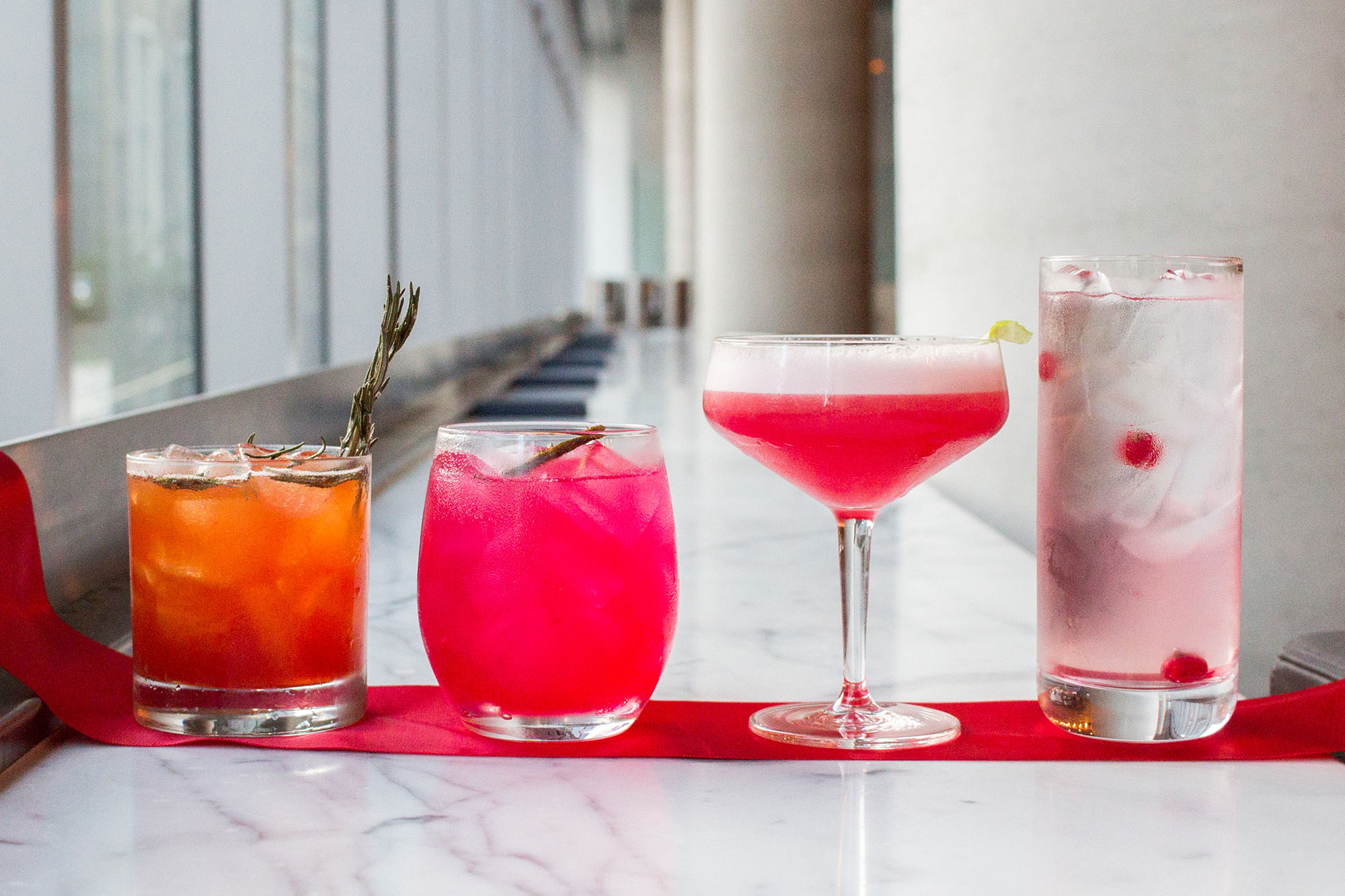 TIFF 2019 cocktails on bar