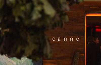 Entrance to Canoe restaurant