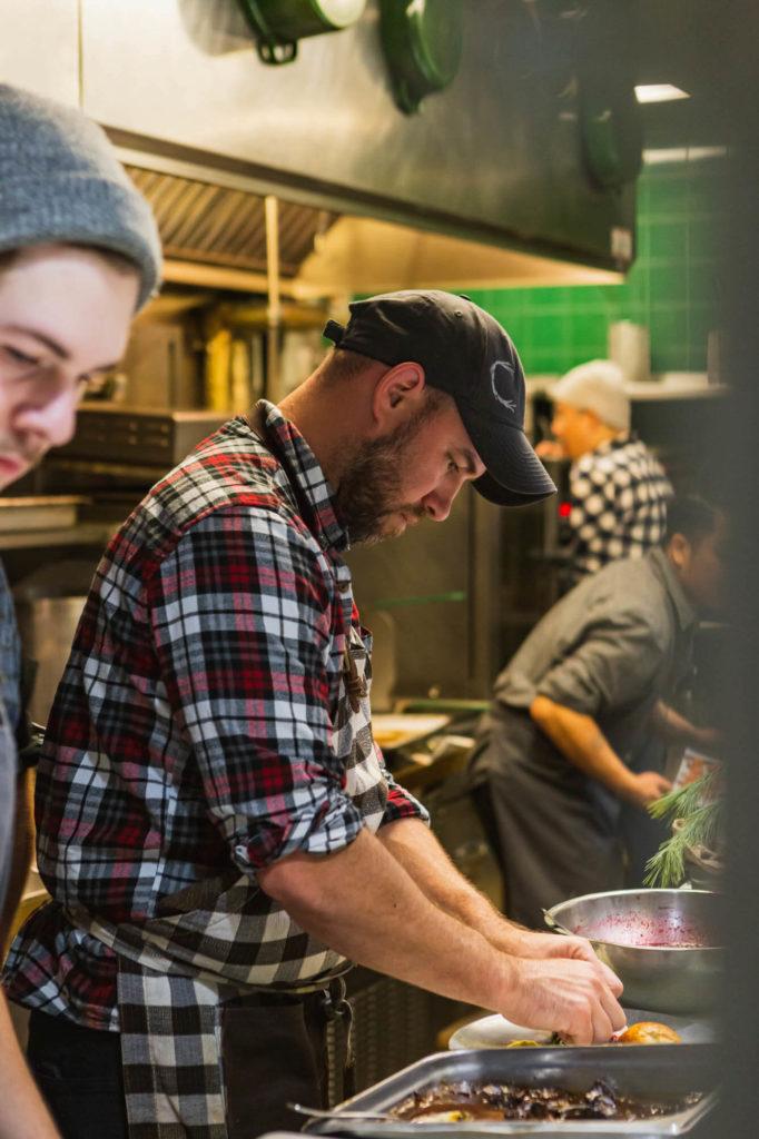 Chef Horne in the kitchen