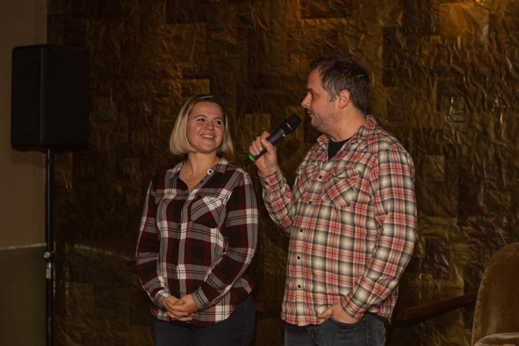 Speakers on stage