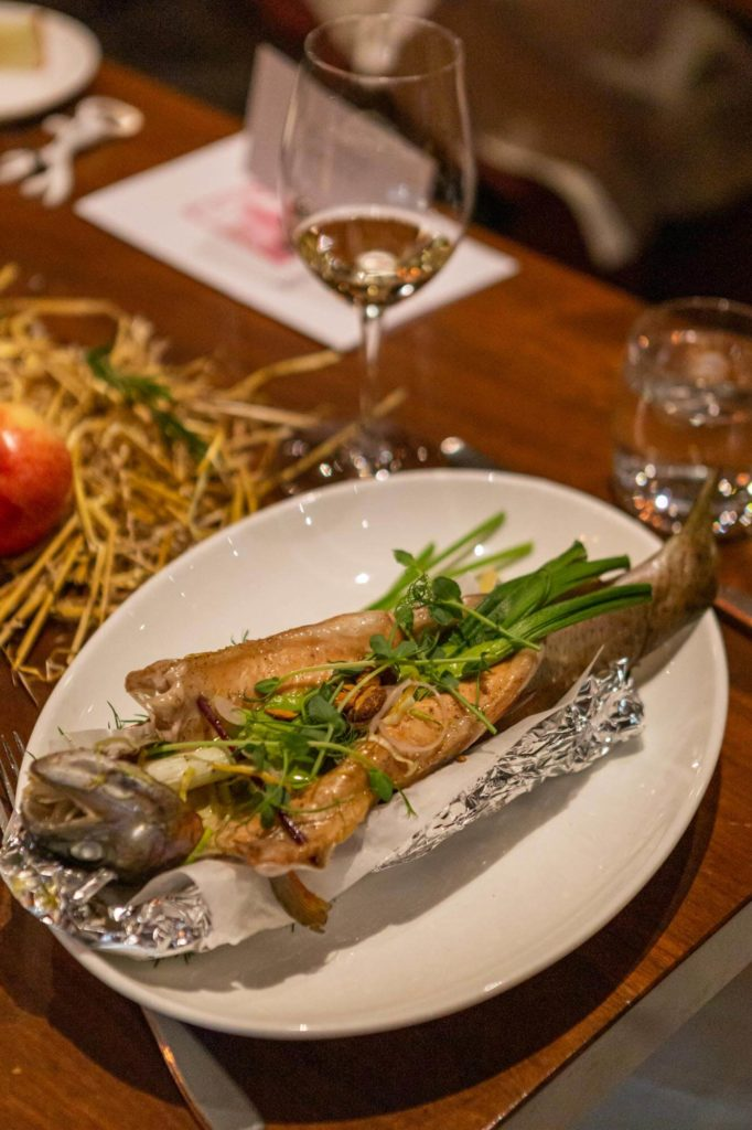 Trout dish on the table
