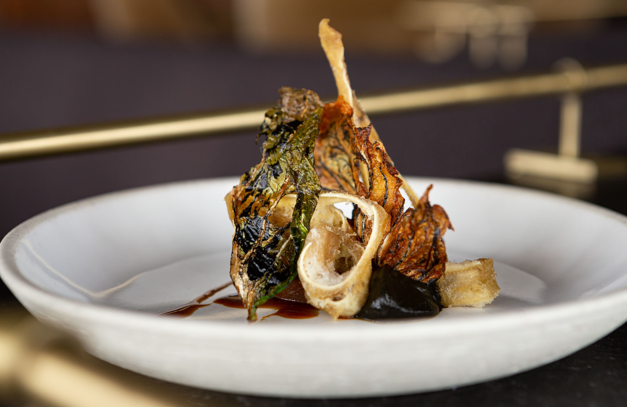 Canoe Restaurant tasting menu dish - nose to tail