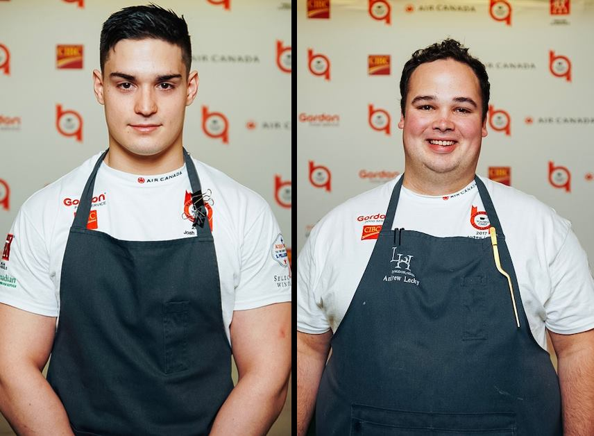 Hawksworth Young Chef Scholarship – Josh Adamo of Auberge du Pommier and Andrew Lecky of Langdon Hall Country House Hotel & Spa