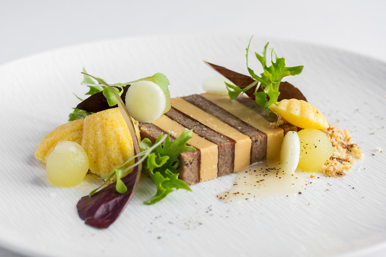 Taste Alsace Foie Gras Terrine on White Plate at Auberge du Pommier