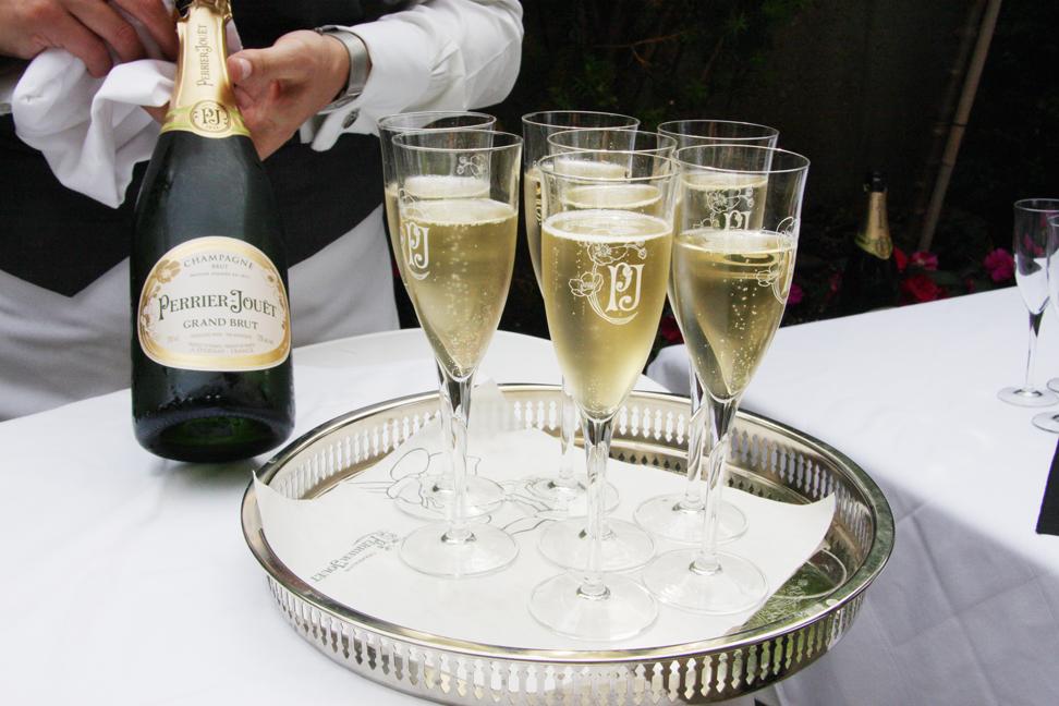 Perrier-Jouet Champagne at Auberge du Pommier