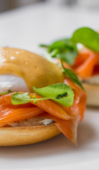 The Guild Brunch Smoked Salmon Eggs Benedict