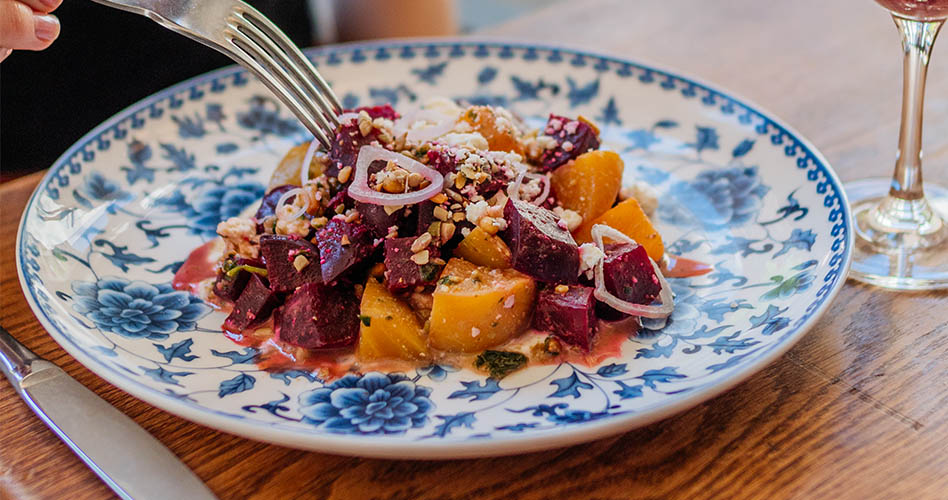 Roasted Beet Salad at The Guild