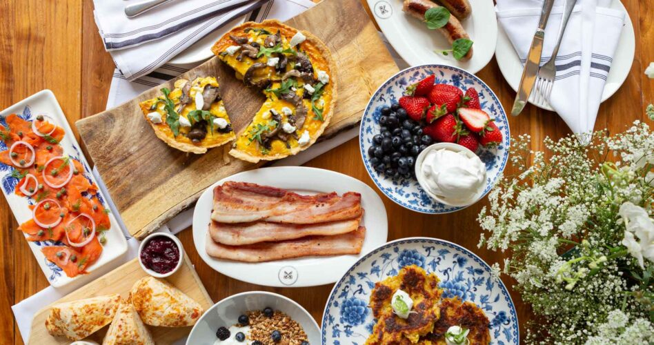 Mother's Day Brunch take home meal dishes