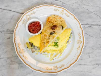 Roasted Mushroom Omelette breakfast at Leña