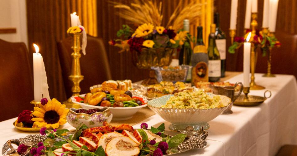 Lena Feast on a Table
