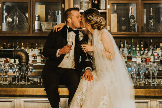 Intimate wedding at Sub Rosa in Calgary