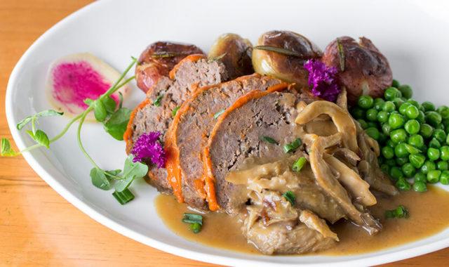 Meatloaf entrée for O&B Café Grill, Bayview Village's Winterlicious menu