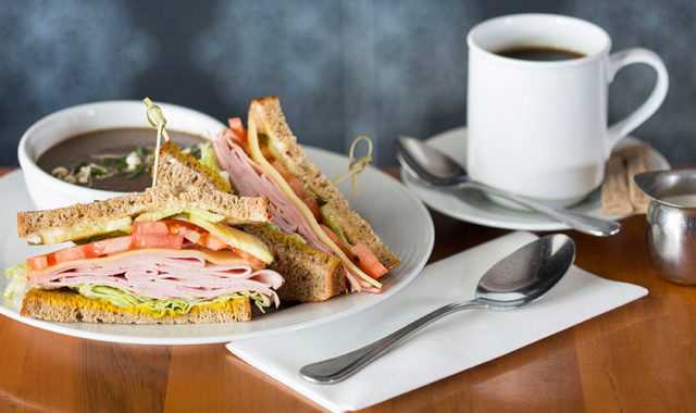 Soup and Sandwich combo at O&B Café Grill, Bayview Village