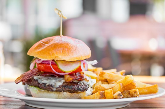Burger from O&B Café Grill