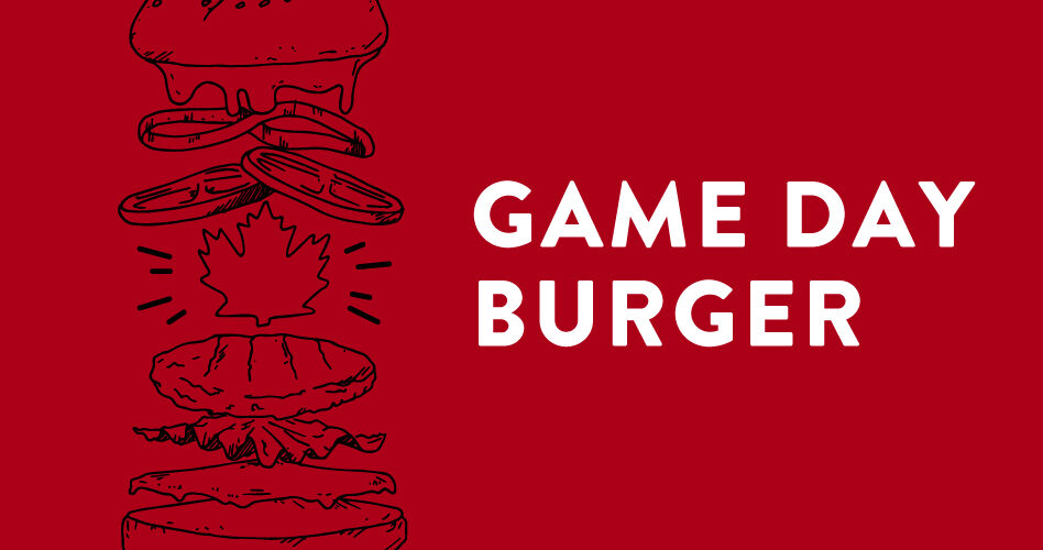 Yonge and Front Game Day Burger - Raptors Colours - Graphic