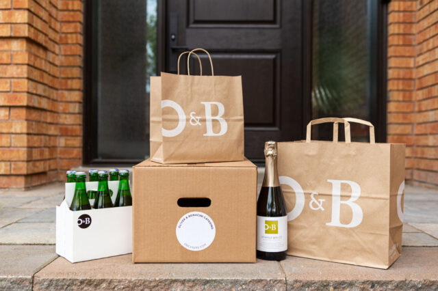 O&B Grocery Delivery on Door Stoop