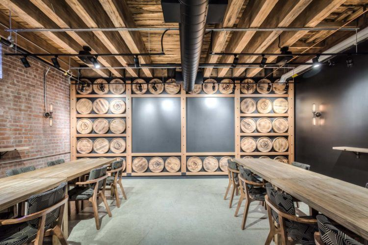 Liberty Commons Private Barrel Room Dining