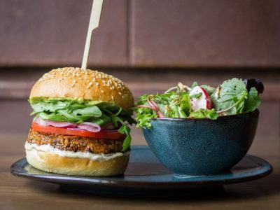 Black Bean Burger at Liberty Commons for Summerlicious 2018