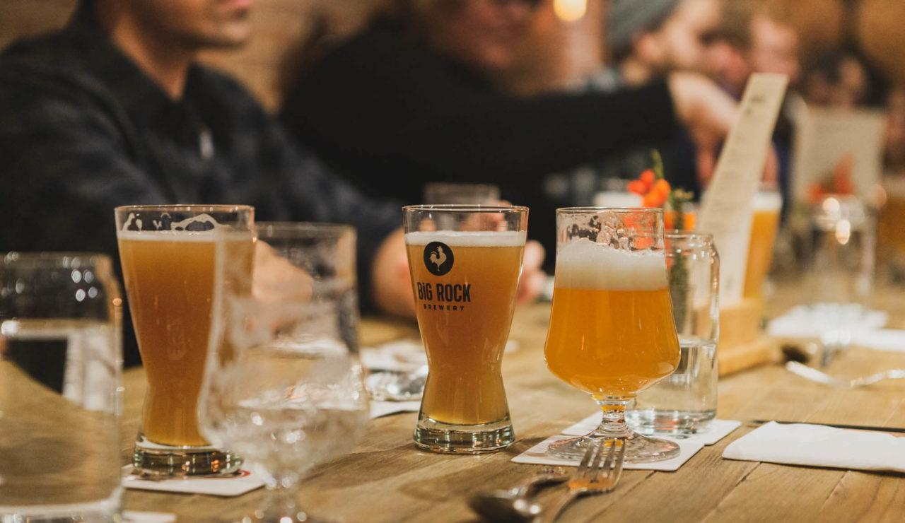 Beer dinner at Liberty Commons