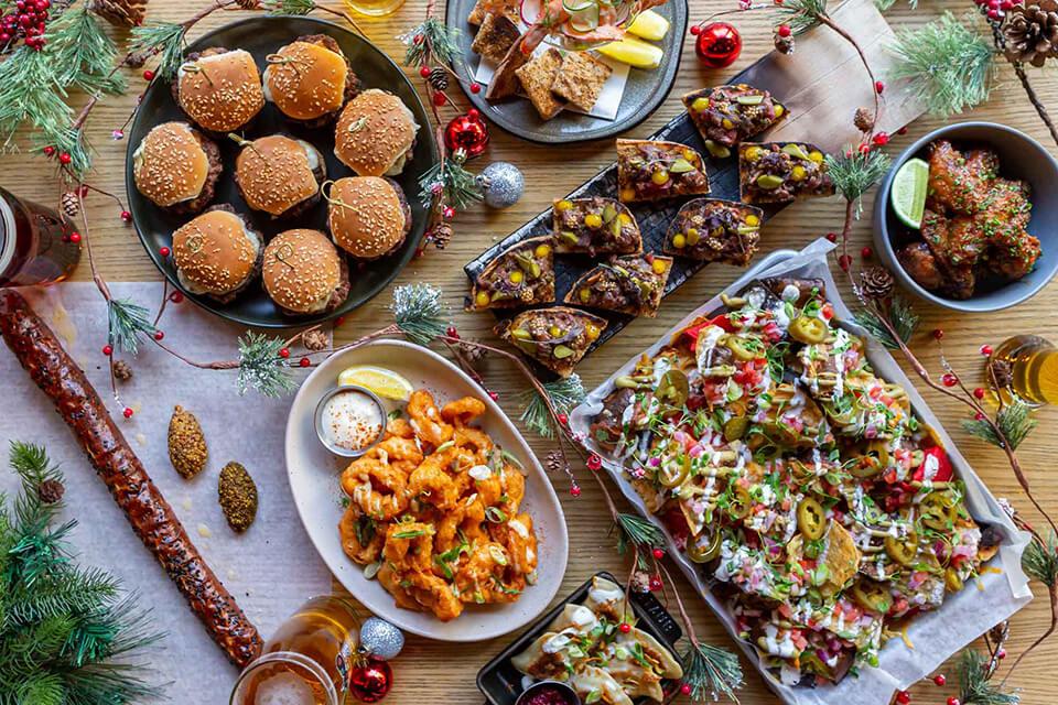 holiday menu spread