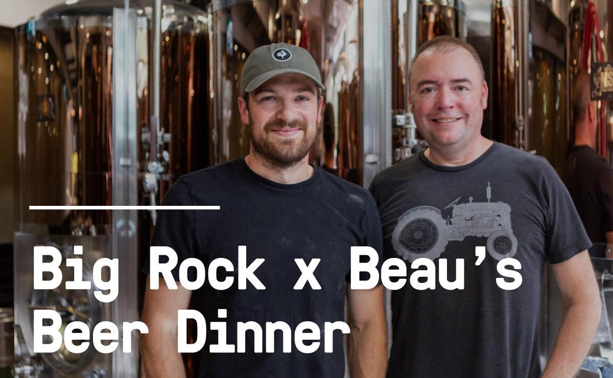 Big Rock's Brewing Manager Dan Ellis and Beau's Brewmaster Matthew O'Hara