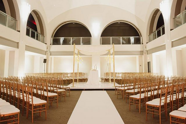 Arcadian Court set for a wedding ceremony