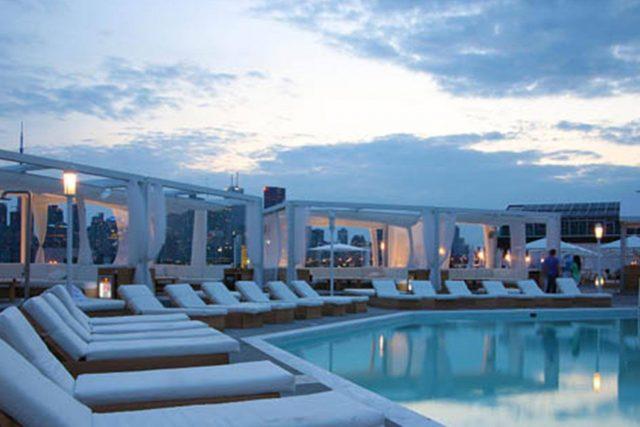 Cabana Pool Bar Toronto evening