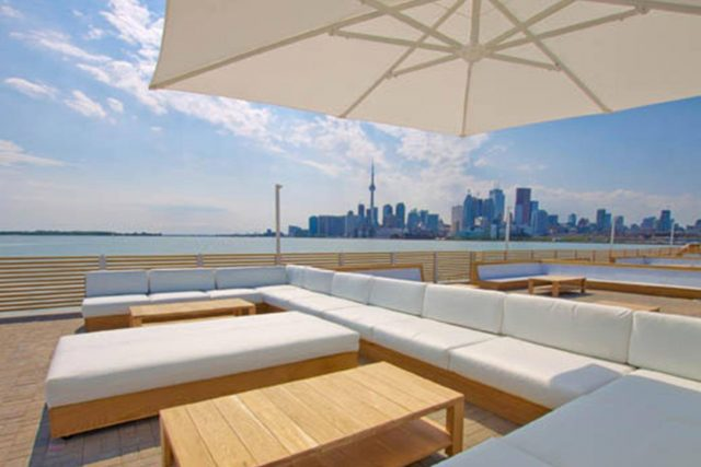 Cabana Pool Bar Toronto view of skyline