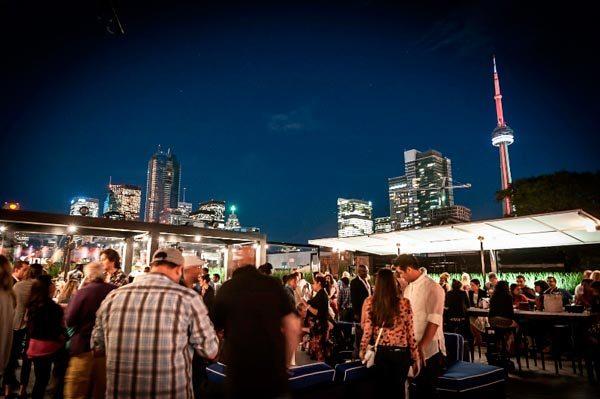Cube Nightclub Toronto - city skyline view at night