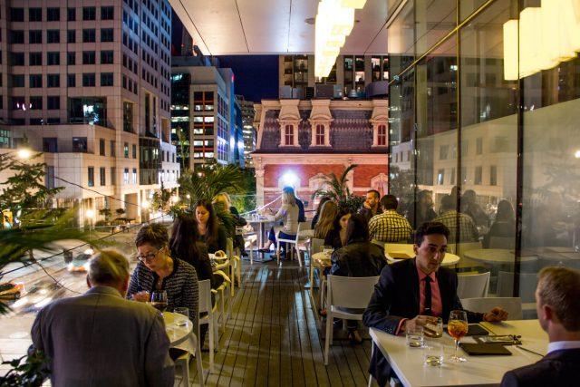 Luma Restaurant Terrace at Night
