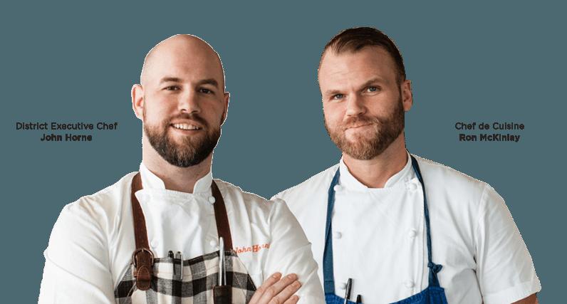 Chefs John Horne and Ron McKinley