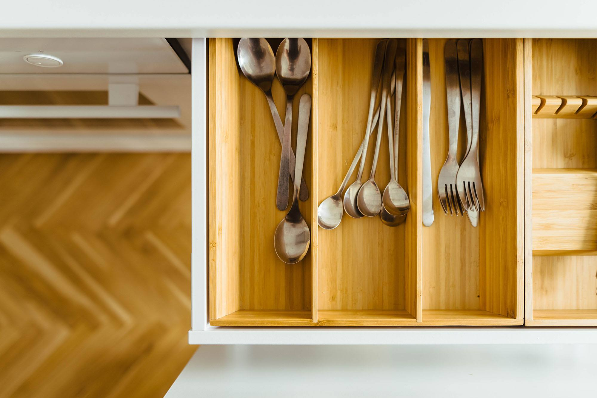 Kitchen Utensil Drawer After Spring Cleaning