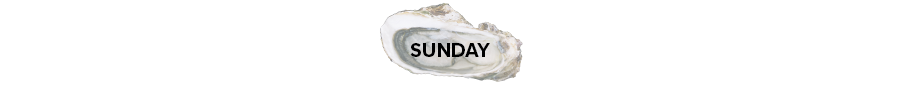 Oyster shell with the word Sunday on it.