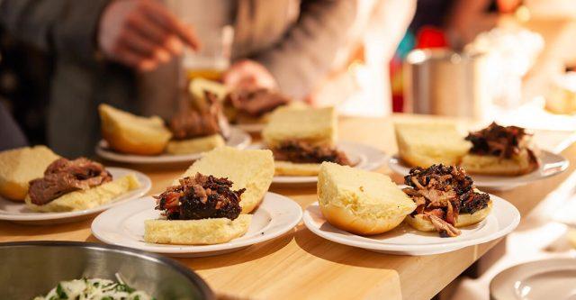 Brisket Sandwich at Village Loft in Toronto