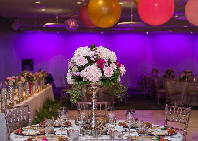 Romantic wedding in Lennox Hall at Toronto Region Board of Trade
