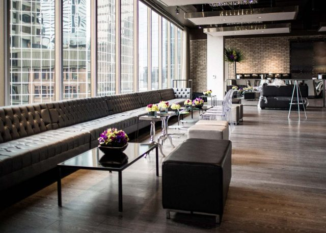 Bench seating in Arcadian Loft event venue