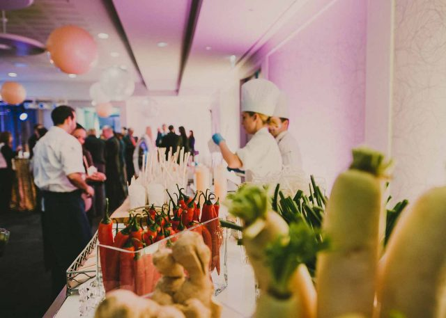 Chefs and food station at Toronto Region Board of Trade