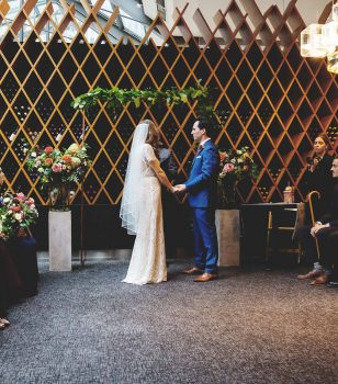 Jump Restaurant Toronto - bride and groom during ceremony