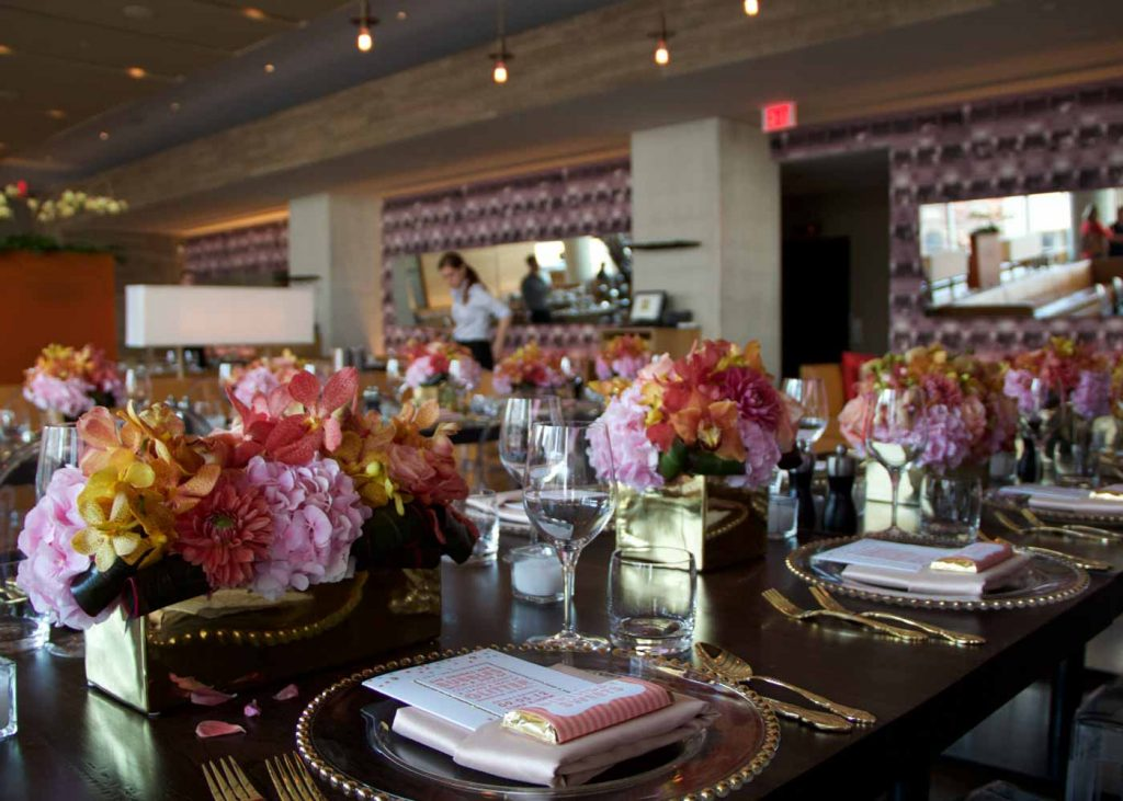 Birthday table setting at Luma Event Venue in Toronto