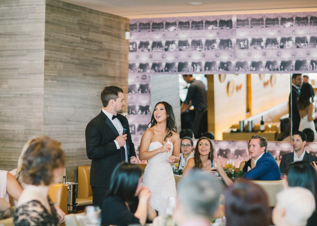 Newlywed Couple Celebrating Wedding at Luma Restaurant