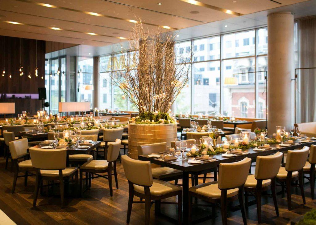 Luma Restaurant Interior Decorated for Wedding